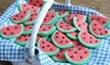 עוגיות בצורת אבטיח